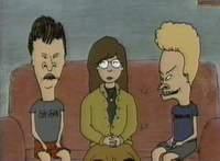 Première apparition de Daria, dans Beavis & Butthead. Daria = Diarrhea = Diahrée. Subtile hein ?
